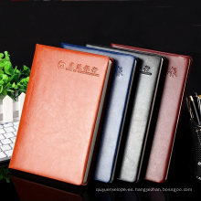 Cuadernos promocionales de fundas de cuero personalizadas profesionales