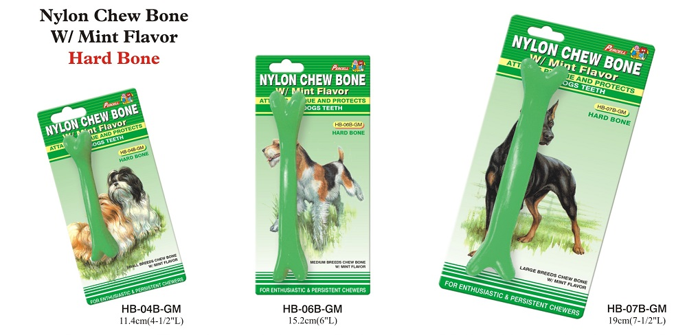 Hard Nylon Chew Bone Toy with Mint Scent