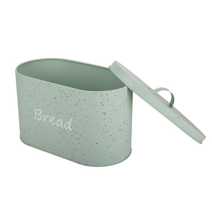 Vintage Oval Metal Bread Box Bread Bin