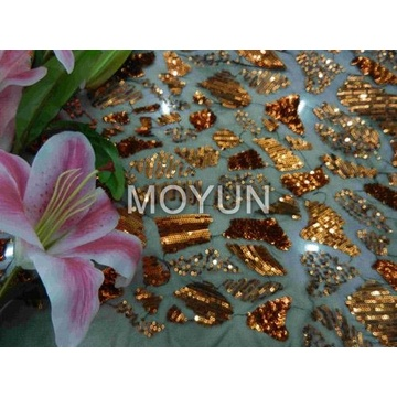 POLY MESH WITH 3MM SEQUIN EMBD 50/52""