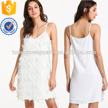 Fringe Embellished Slip Dress Manufacture Wholesale Fashion Women Apparel (TA3224D)