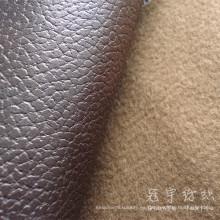 Polipiel transpirable cuero de la PU de la tela para el sofá