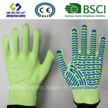 Luva de trabalho de segurança resistente ao corte com luvas revestidas de PVC Luvas de segurança