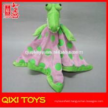 2014 soft crocodile plush blanket animal head plush baby blanket