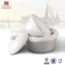 Vajilla de porcelana blanca dos ocho cuencos de sopera de cerámica
