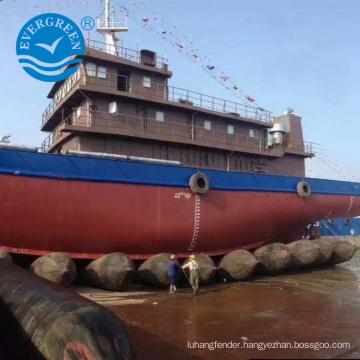 High bearing marine airbag for ship launching lifting