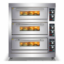 Commerical deck oven electric 3 decks 6 tray pita bread oven comercial pizza gas ovens bakery