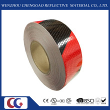 "2""in. X 150′ft Honeycomb Black/Red Double Colors Reflective Tape (C3500-S)"
