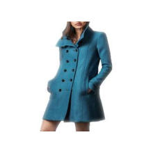 Long Wool Double Breasted Ladies Fashion Coats Long Sleeve
