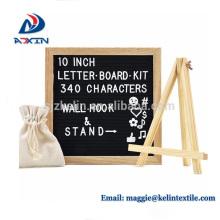 placa de madeira quente da letra do quadro 10x10 do carvalho da venda com suporte