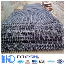 Malla de hierro prensado de alambre negro para la construcción