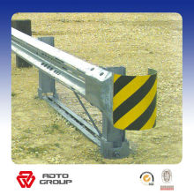 galvanized steel highway guardrail