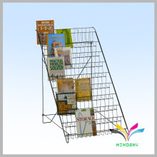 Full color printing wire stand retail world map display rack