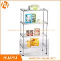 Grille 4 étagères étagères, OEM / ODM fil rayonnage Rack Storage Unit