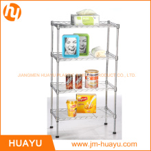 4-Shelf Wire Shelving Rack, OEM / ODM Wire Shelving Unit Storage Rack