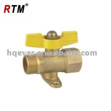 Válvula de latón HQ7016 latón válvula de estufa de gas