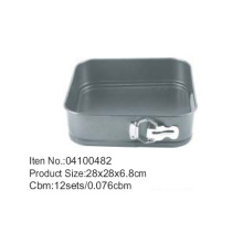 D28*28cm Classic Nonstick Square Shape Bakeware Springform Cake Tin