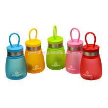 Botella de agua preciosa colorida libre colorida de 290ml BPA