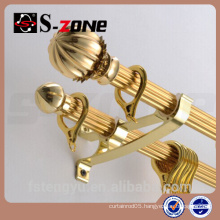 Decorative hanging curtain hardware curtain rod set
