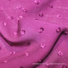 Tela dobby de rayón tejida púrpura 81 * 82 barata