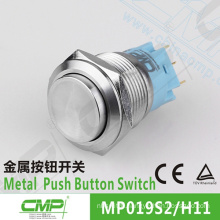 CMP 19mm metal waterproof SPDT high quality press button switch(TUV CE)