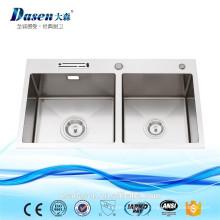 DS-8147 tablier de granit lavabo avant évier de cuisine noir évier d'angle de cuisine