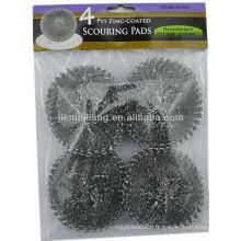 Balai nettoyant nettoyant pour nettoyeur en argent, balais en métal, éponge en mous
