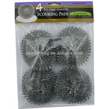 Серебряная чистка скруббера сетка очистки мяча, металлическая мочалка, сетка мочалка