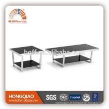T-07glass top table basse table basse en acier inoxydable table basse design moderne