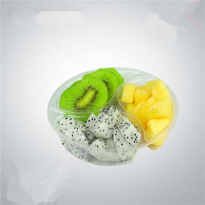 3 Compartments Plastic Fruit Container