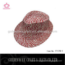 Fashion Stripe Pattern Trilby/Fedora Hat