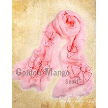 100% льняной шарф с вышивкой