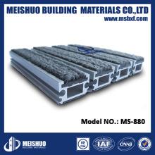 Alfombra de suelo empotrada de hormigón Tapetes de entrada de aluminio