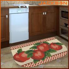 O costume da máquina da sublimação imprimiu o tapete impresso costume da cozinha lavável