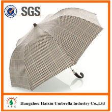 Professional OEM Fabrik liefern öffnen schließen Regenschirm mit krummen behandeln