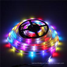 16,4 фута 300 светодиодов WS2812 индивидуально Адресуемых 5050 RGB светодиодные полосы света пиксела СИД гибкая Лампа IP67 Водонепроницаемый Белый PCB