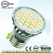 carcasa de aluminio E27 de 3W led luz del punto