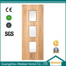 Porte en bois intérieure de placage de HDP de Wood-Finish pour le projet d'hôtel