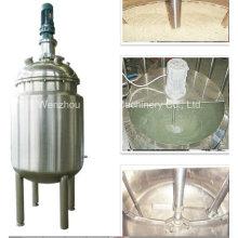 Pl Stainless Steel Jacket Emulsificación Mezcla Tanque Mezclador de aceite Mezclador de azúcar Solución Mezclador de color de pintura