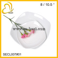 hochwertiges Melamin Porzellan imitiert quadratische weiße Teller
