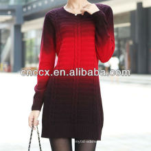 PK17ST216 pullover ombre sweater women dresses