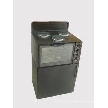 Horno eléctrico de la tostadora de la estufa derecha con el caso de escritorio doble