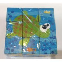 9pcw Wooden Six Sides Puzzle Blöcke für Kinder und Kinder