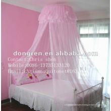 Dentelle rose décorée moustiquaires suspendues moustiquaires couvertures de lit