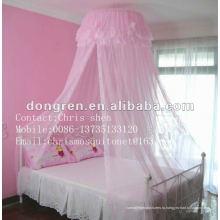 Розовые кружева украшенные висящие девушки москитные сетки кровати навесы