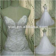 JJ2647 Vestido de boda nupcial del diseñador blanco del bordado de la tira del vestido de bola del envío de la gota 2012