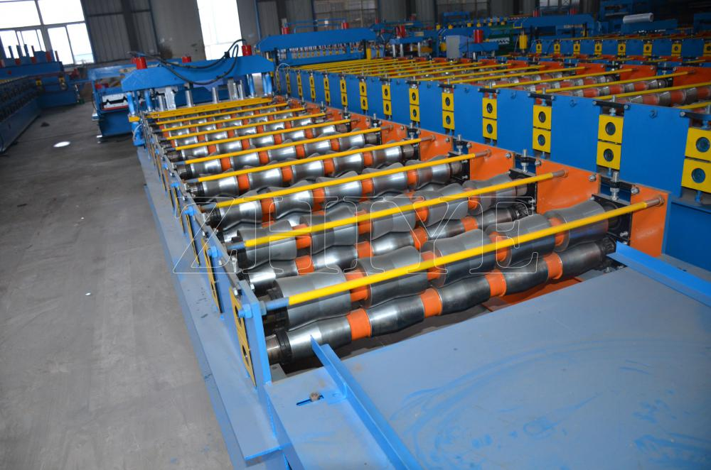 Glazed Roof Tile Forming Machine Aluminium Cangzhou