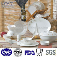 Hotel used luxury fine bone china stoneware dinner set for gift