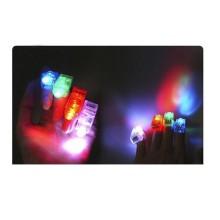 Dedo de la luz/led luces LED con anillo de goma
