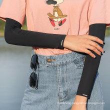 Sun Protection Ice Silk Arm Warmer Upf 50+ Cuff Sleeve